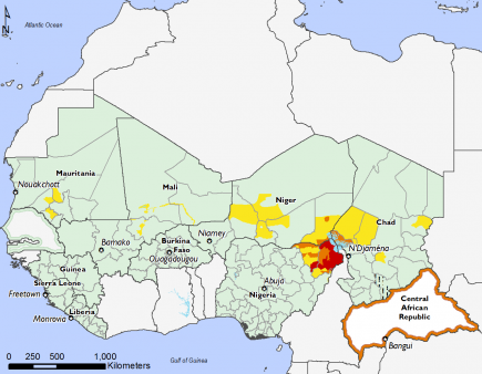 West Africa, Food Security, November 2016 to January 2017