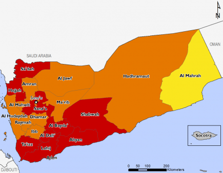 Yemen August 2017 Food Security Projections for October to January