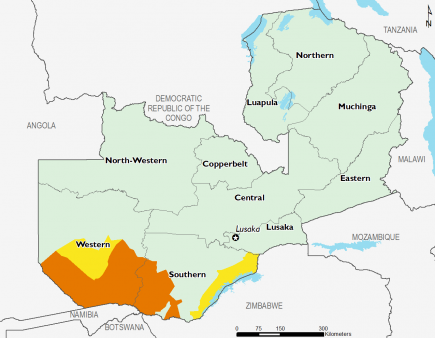 Zambia February 2016 Food Security Projections for February to May