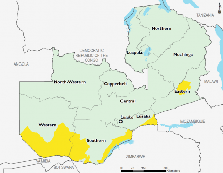 Zambia October 2016 Food Security Projections for October to January