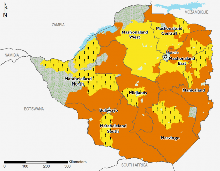 Zimbabwe October 2016 Food Security Projections for October to January