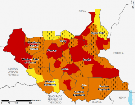 South Sudan ML1 map